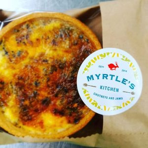 Leek and Shropshire Blue quiche