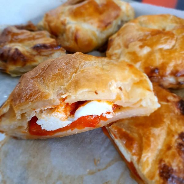 Red pepper & goats cheese